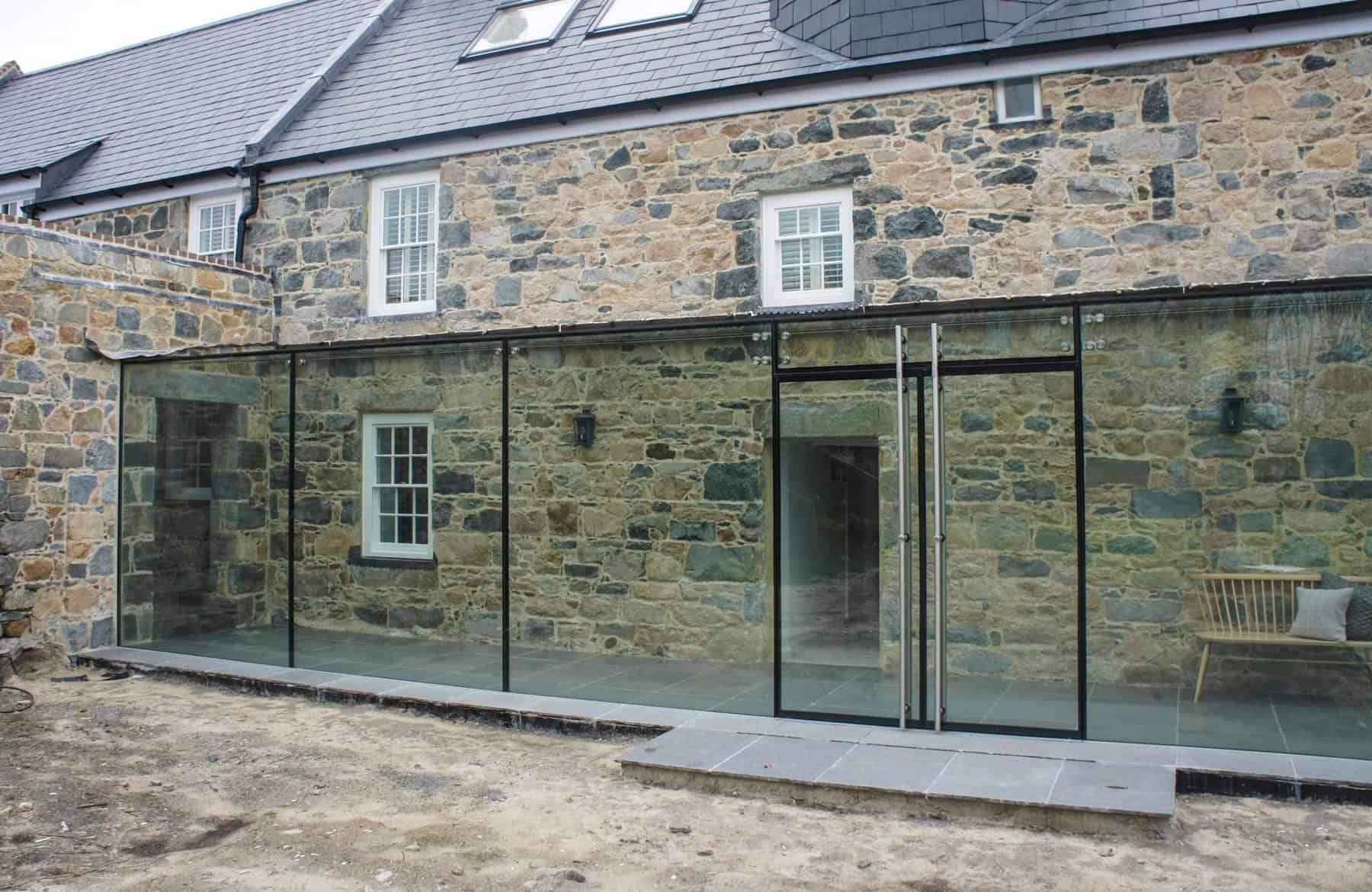 Structural Glass Door : Vale guernsey architectural glass clear living