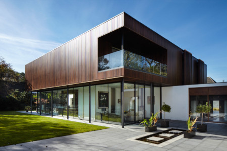 Sky-frame sliding doors and frameless glass screens