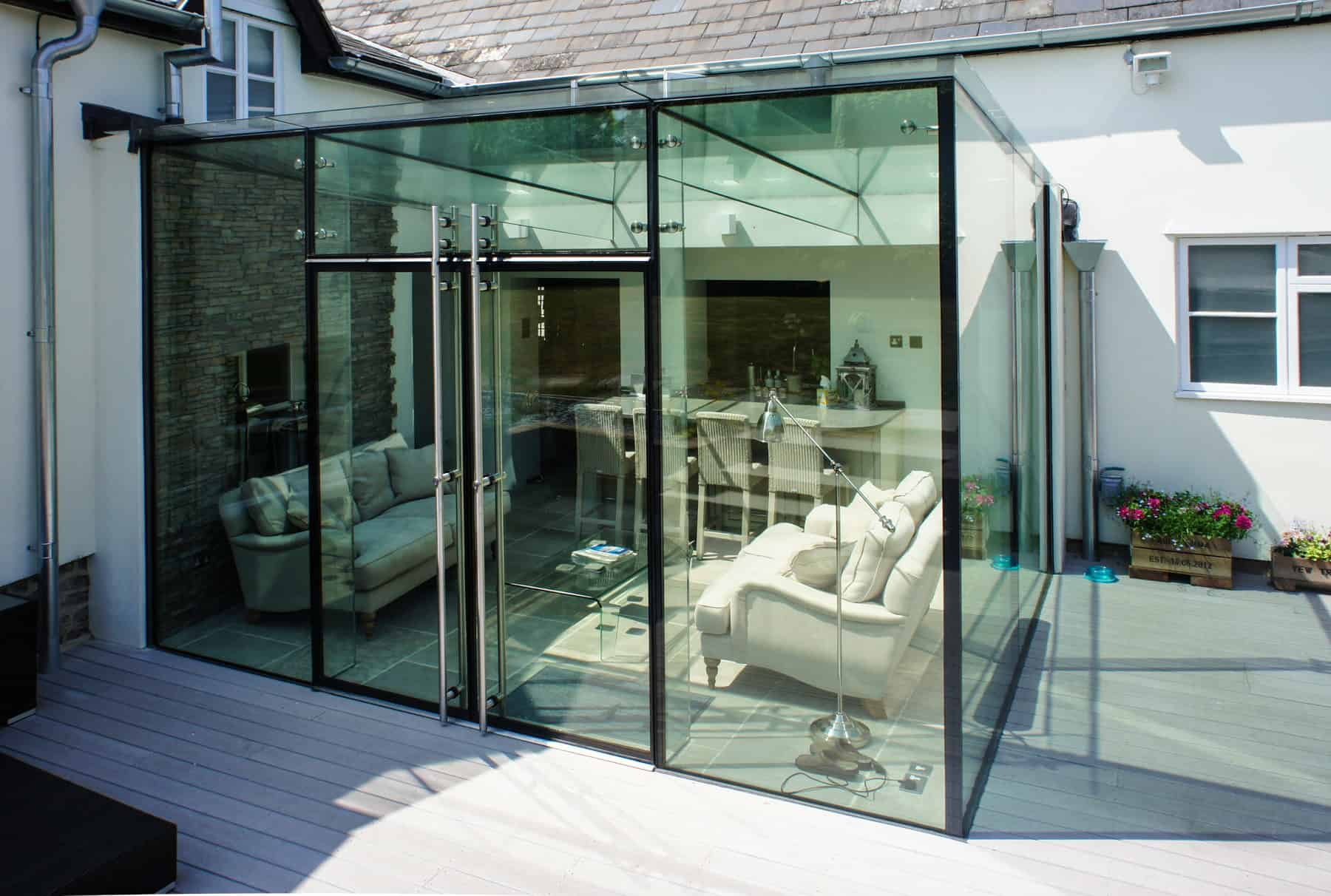 External Frameless Glass Sliding Doors